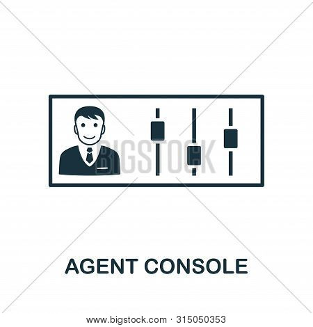 Agent Console Icon Symbol. Creative Sign From Icons Collection. Filled Flat Agent Console Icon For C