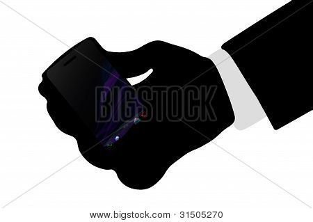 Holding a smart phone