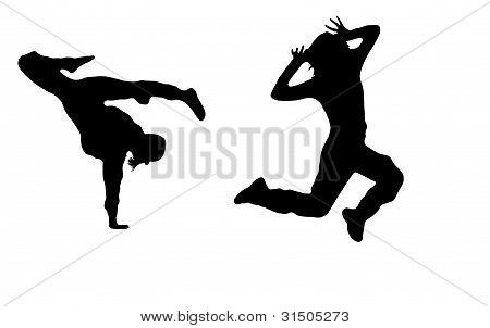 dancing girls in black