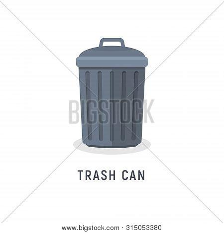 Trash Can Garbage Dustbin Waste. Trashcan Basket Empty Bucket