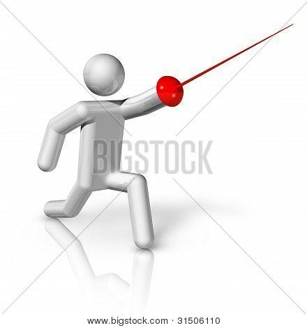 Fencing 3D Symbol