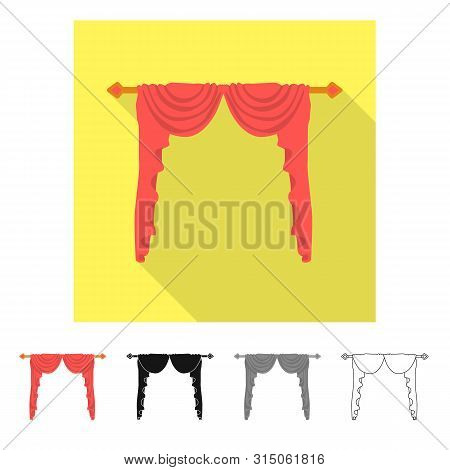 Isolated Object Of Lambrequin And Hall Logo. Collection Of Lambrequin And Cosiness Vector Icon For S
