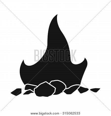 Vector Illustration Of Blaze And Fiery Sign. Collection Of Blaze And Firewood Stock Vector Illustrat