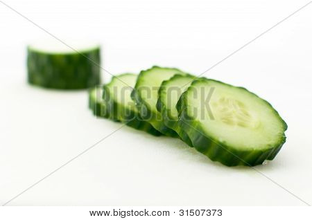 Sliced Cucumber Stacked