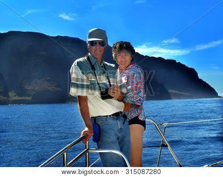 Couple Enjoy Boat Tour Image Photo Free Trial Bigstock
