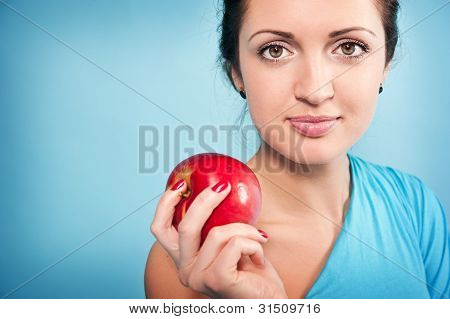 Girl And Apple