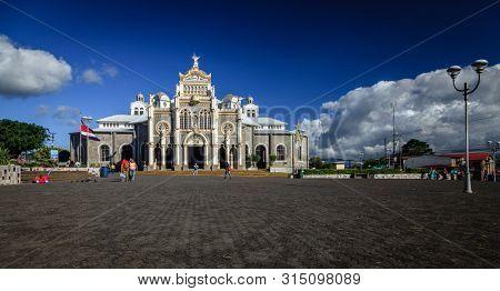 Cartago, Costa Rica - November 22, 2014: Basilica Nuestra Senora de Los Angeles in Cartago, Costa Rica is the most popular pilgrimage site in the country