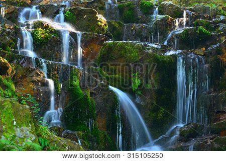 Water Falls , S. Vicente River , Fragoso , North Of Portugal .