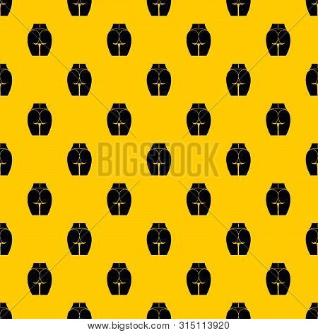 Buttocks Of Girl Pattern Seamless Vector Repeat Geometric Yellow For Any Design