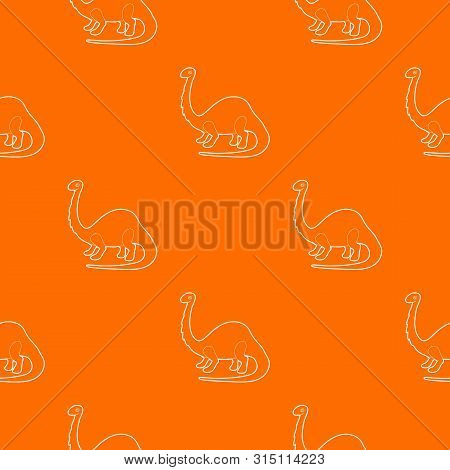 Apatosaurus Dinosaur Pattern Vector Orange For Any Web Design Best
