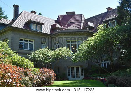 Portland, Oregon - Jun 12: Pittock Mansion In Portland, Oregon, As Seen On Jun 12, 2019. The Mansion