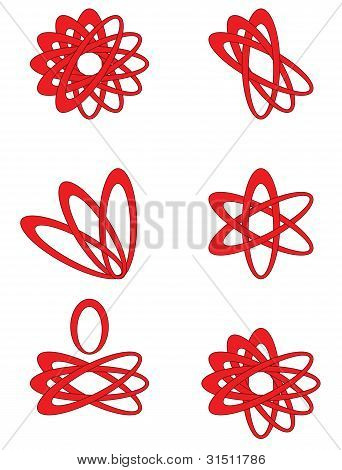 Abstract design set, vector.