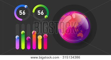 Business Infographic Presentation Vector Illustration Concept. Corporate Marketing Analytics Data Re