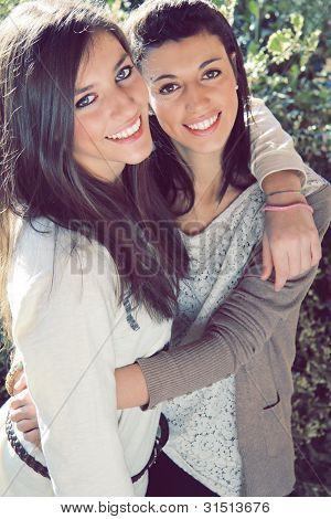 Two Joyful Sisters