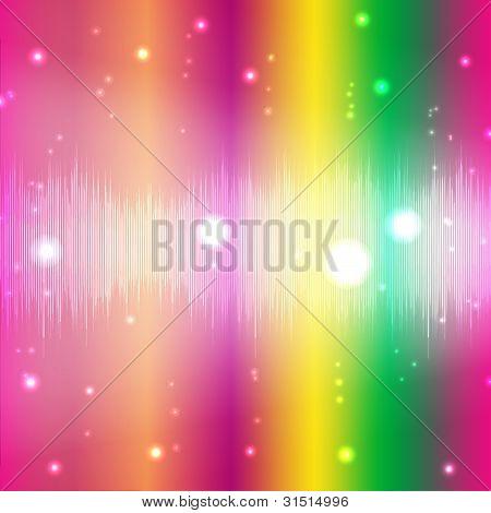 Disco Lighting Effect, Vector