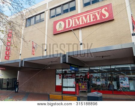 Melbourne, Australia - July 31, 2019: Dimmeys Discount Department Store On Mccrae Street Pedestrian