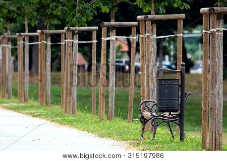 Excellent Wooden Public Park Image Photo Free Trial Bigstock Bralicious Painted Fabric Chair Ideas Braliciousco