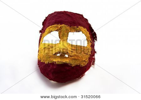 Painted face mask