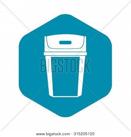Big Trashcan Icon. Simple Illustration Of Big Trashcan Vector Icon For Web