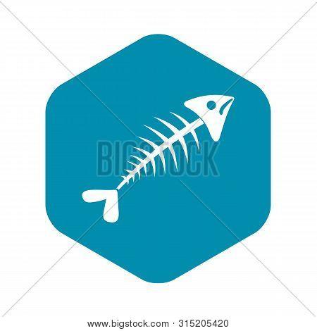 Fish Bone Icon. Simple Illustration Of Fish Bone Vector Icon For Web