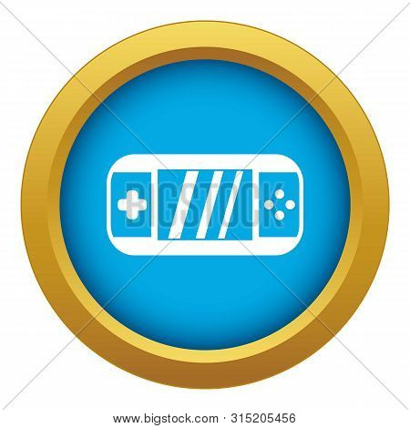 Portable Video Game Console Icon Blue Vector Isolated On White Background For Any Design