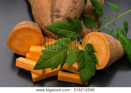 Yam The Orange Sweet Potatoe Ipomoea Batatas