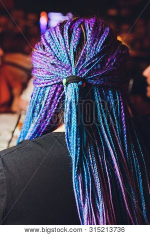 Dreadlocks African Pigtails On A White Background Weaves A Master Hairdresser In The Salon, Hair Clo