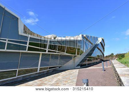 Santiago De Compostela, Spain. July 21, 2019. Cidade Da Cultura De Galicia Designed By Peter Eisenma