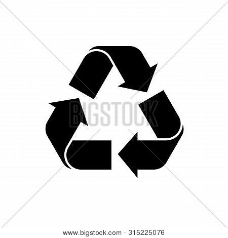 Recycle Icon Vector. Black Recycling Symbol. Vector Icon Of Recycle On Isolated Background. Simple R