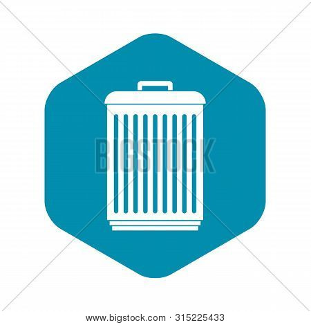 Trashcan Icon. Simple Illustration Of Trashcan Vector Icon For Web