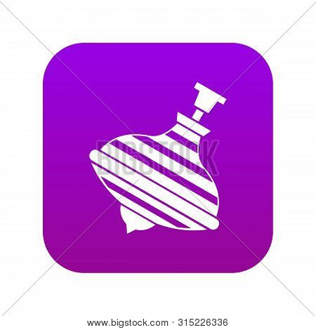 Carousel Humming Top Icon Digital Purple For Any Design Isolated On White Vector Illustration