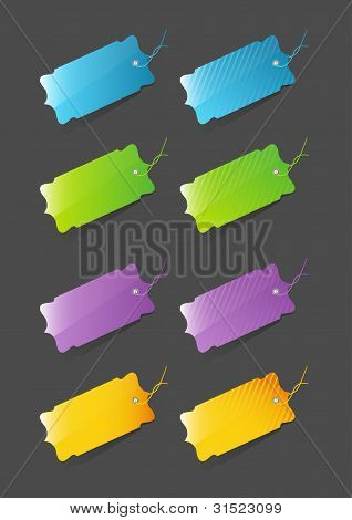 Etiquetas de precio coloridos modernos