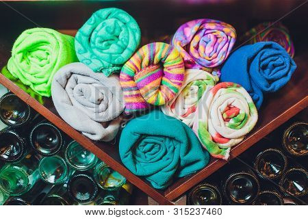Abstract Background Luxury Cloth Or Liquid Wave Or Wavy Folds Colorful Stoles Or Elegant Wallpaper D