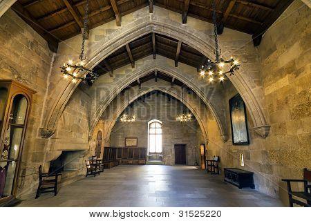 Monastery Of Santa Maria De Poblet Flags Room