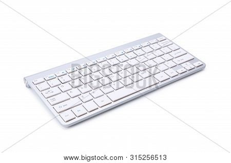 Laptop Computer With Blank Screen Isolated On White Background, With Selection Path.