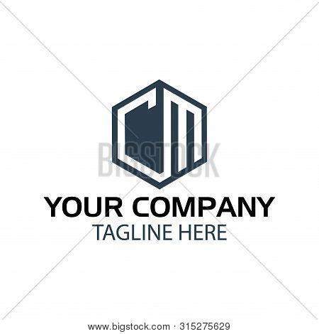 Letter Cm Stock Logo, Cm Initial., Flat Design. Cm Monogram