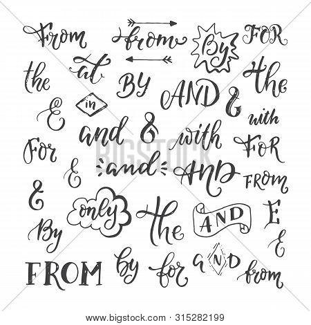 Hand Sketched Ampersands And Catchwords Vector Symbols