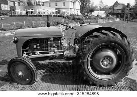 Chester, Cheshire, England, Uk, Europe - August 3, 2019 : Ford Ferguson N-series Tractor Produced Fr
