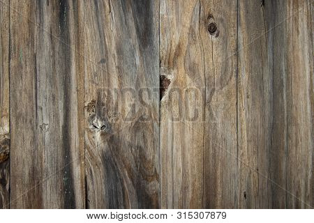Old Grunge Wood Plank Texture Background. Vintage Wooden Board Wall Have Antique Cracking Background
