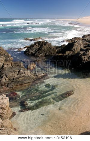 Coastal Pool Scene