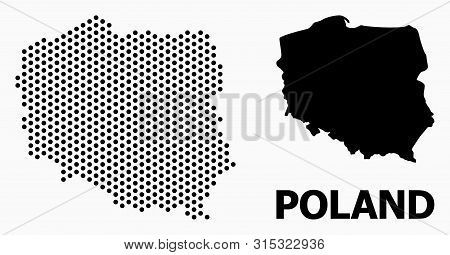 Dot Map Of Poland Composition And Solid Illustration. Vector Map Of Poland Composition Of Spheric It
