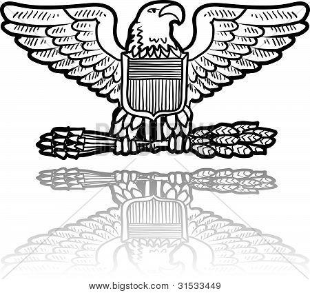 US military insignia eagle