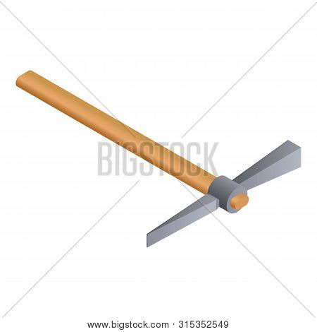 Axe Pick Icon. Isometric Of Axe Pick Vector Icon For Web Design Isolated On White Background