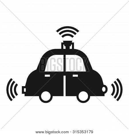 Autopilot Car Icon. Simple Illustration Of Autopilot Car Vector Icon For Web Design Isolated On Whit
