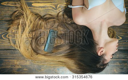 Brush Your Hair. Long Healthy Hair. Hairdresser Salon. Hair Loss And Care. Sexy Girl. Trendy Look. S