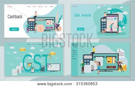 Good And Service Tax Gst Concept With Finanical Elements Or Concept Of Online Payment, Management Ar