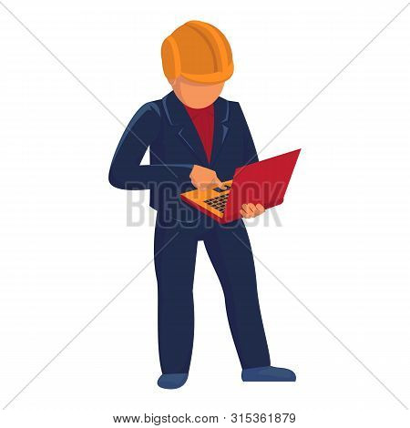 Supervisor Construction Icon. Cartoon Of Supervisor Construction Vector Icon For Web Design Isolated