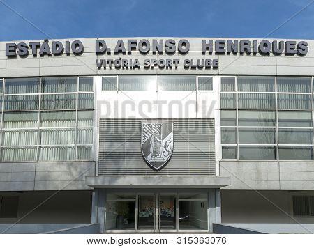 Guimaraes, Portugal - April 218: View On Estadio D.afonso Henriques