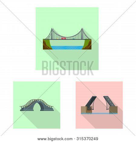 Isolated Object Of Bridgework And Bridge Icon. Collection Of Bridgework And Landmark Stock Vector Il