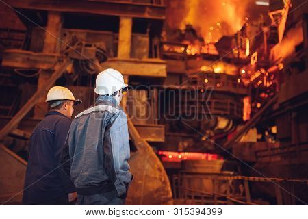 Industrial Worker At The Factory Welding Closeup,